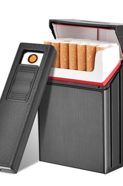 Cigarettetui med Tändare