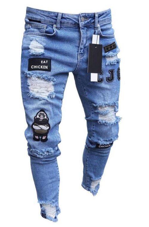 Denim Jeans med Hål