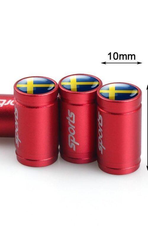 Däckdekaler med Svenska Flaggan (8st)