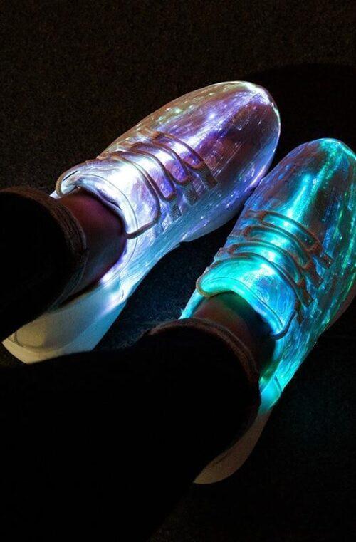Uppladdningsbara LED Skor