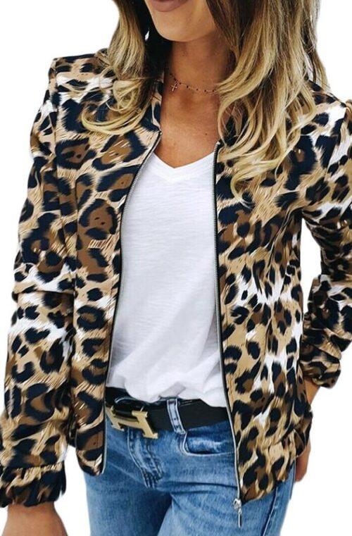 Leopardmönstrad Jacka