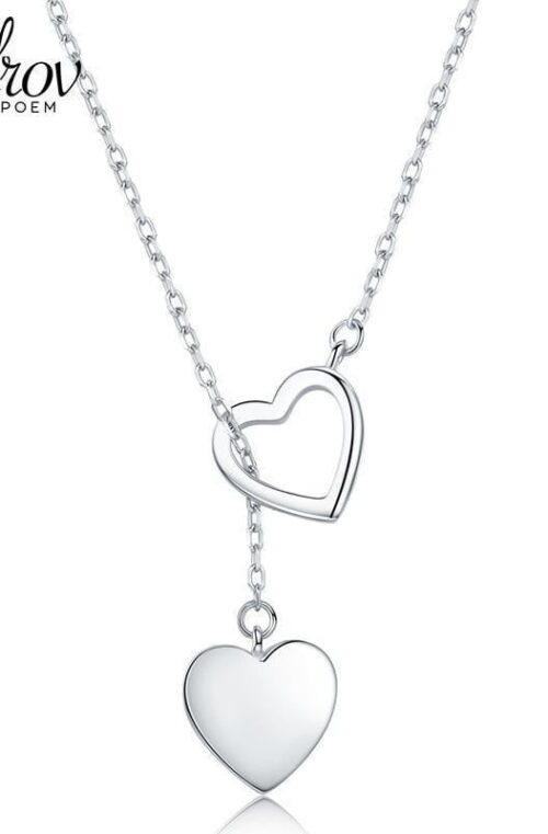 Smyckeshalsband med Hjärtsmycke