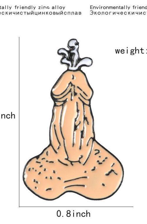 Rolig Brosch/Nål Penis