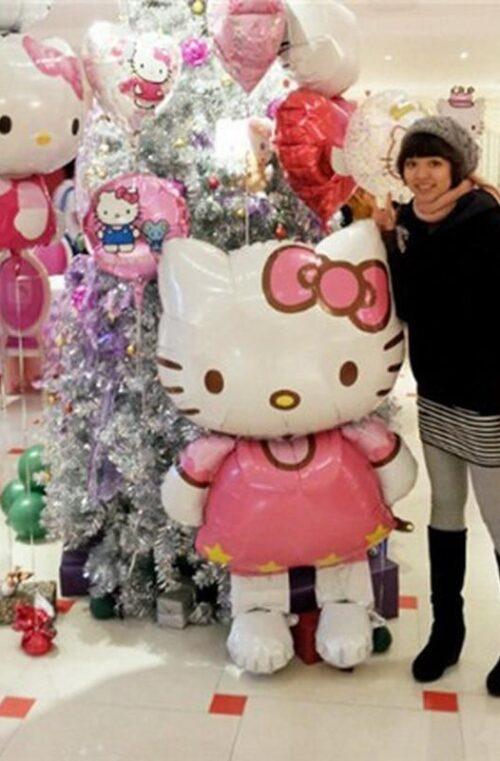 Hello Kitty Jätteballong (116cm)
