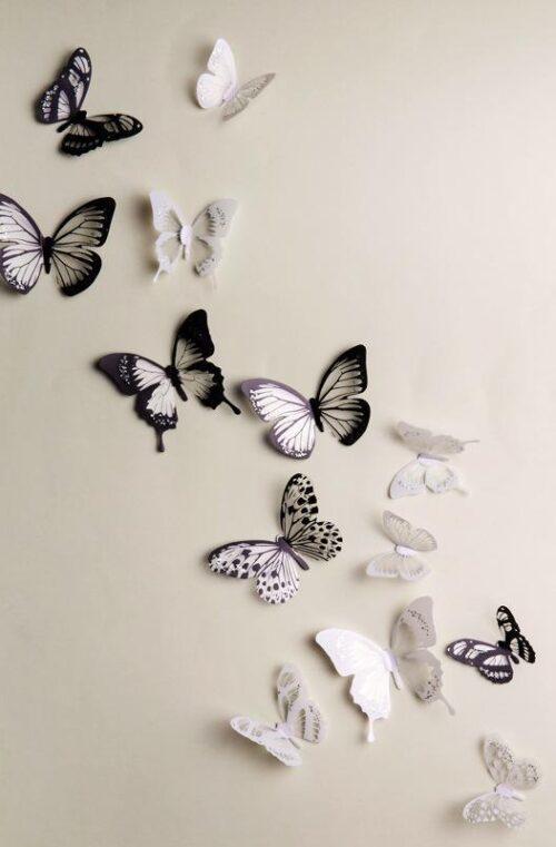 Fjärilar Väggdekor (18st)