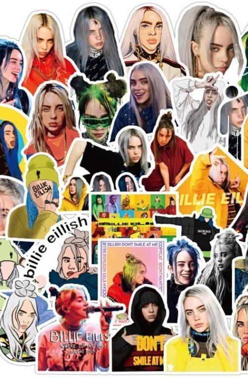 Billie Eilish Klistermärken (50st)