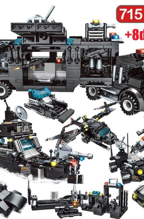 Polis Lego Set (715 Delar)