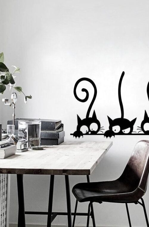 Väggdekor (Katter)