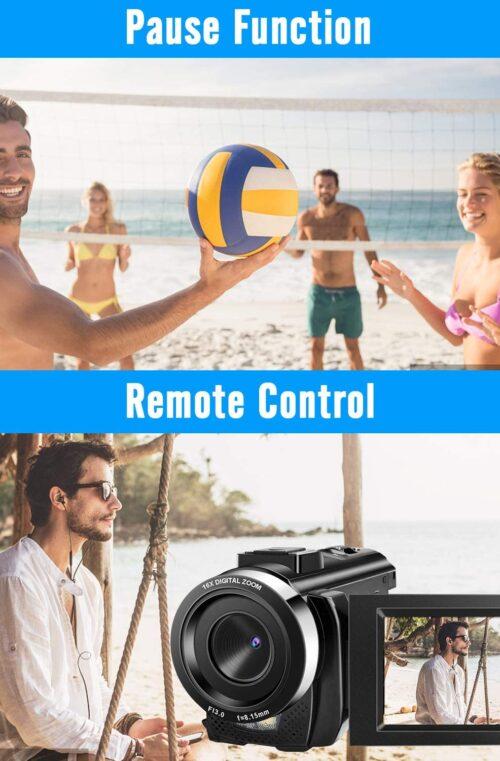 Videokamera med Fjärrkontroll