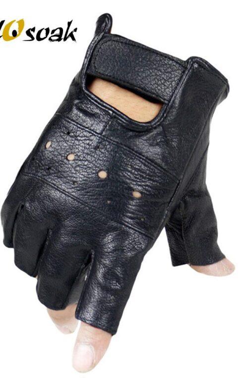 Halvfingerhandskar Herr (Fårskinn)