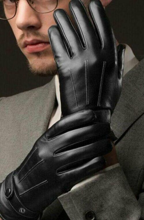 Läderhandskar (Touchscreen)