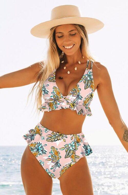 Bikini med Låg Midja