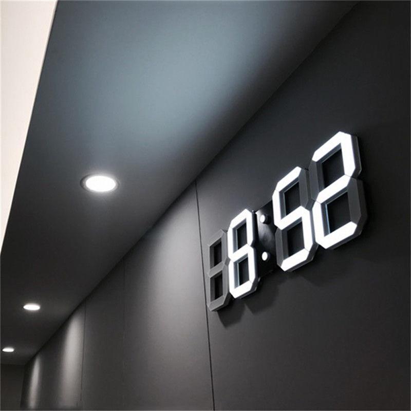 led klocka vägg