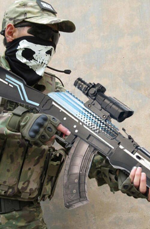 Ljuddämpad AK-47