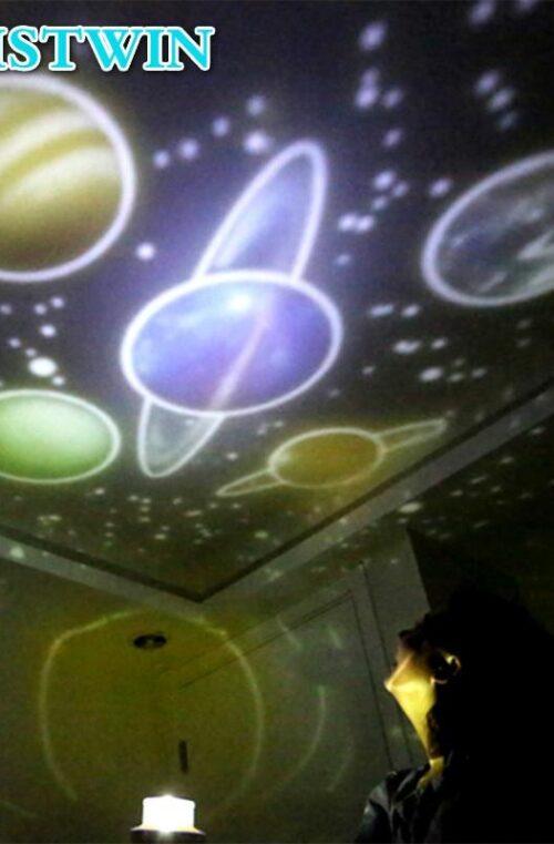 """'Planetsystemet"""" LED Nattlampa"""