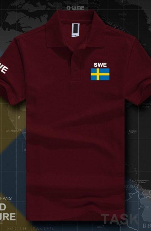 'SWEDEN' Poloskjorta