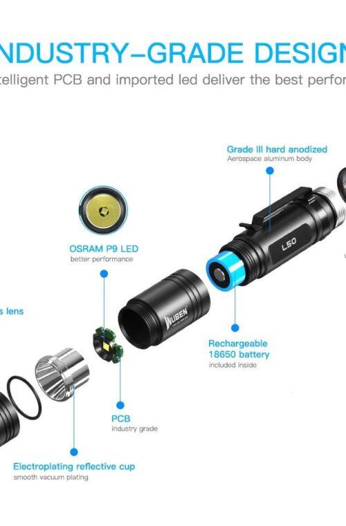 WUBEN L50 Taktisk Ficklampa