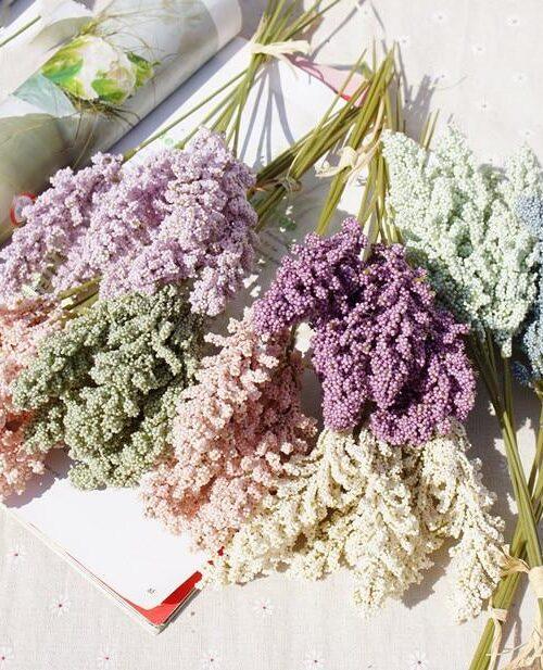 6st/Knippe Konstgjord Lavendel