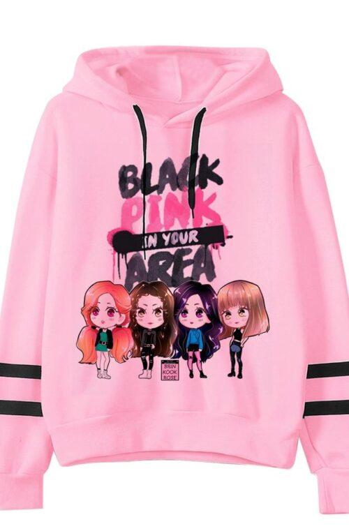 Blackpink 'Pink' Cartoon Hoodie