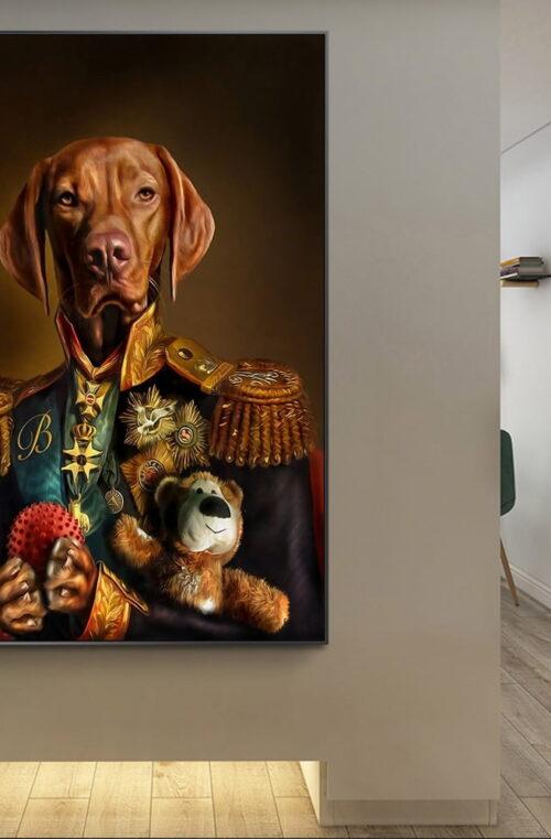 'General Hund' Canvas Poster Väggdekor