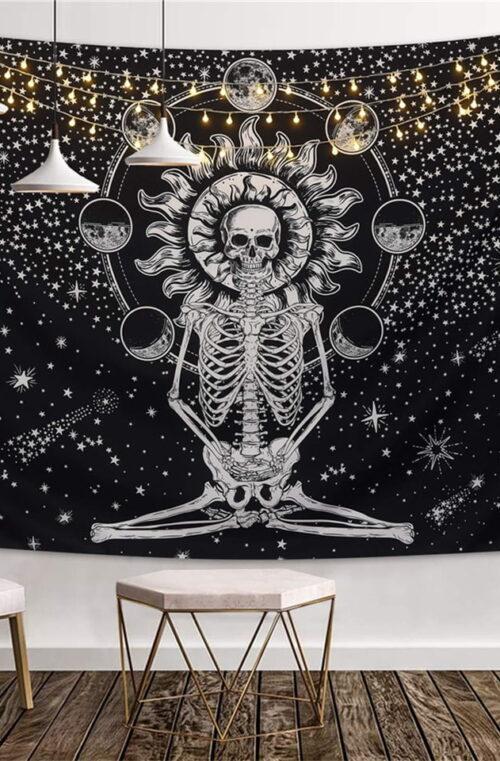'Skeleton' Canvas Poster Väggdekor
