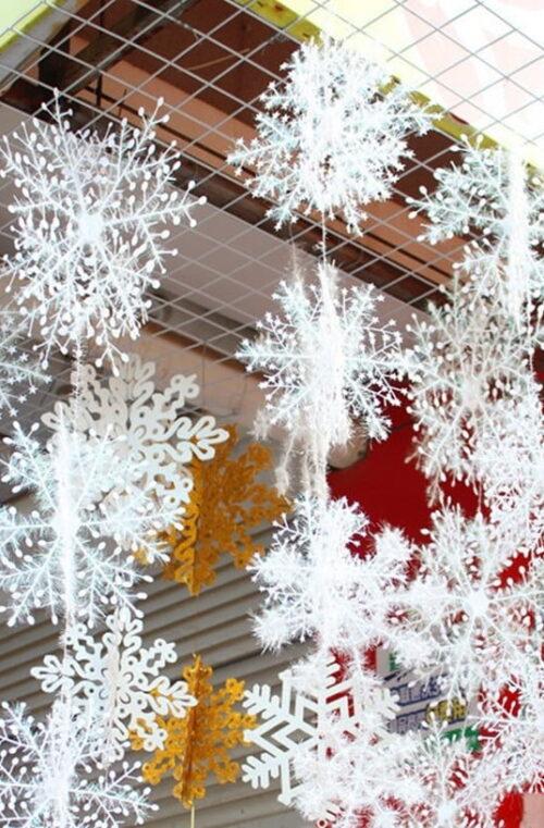 27st Konstgjorda Snöflingor
