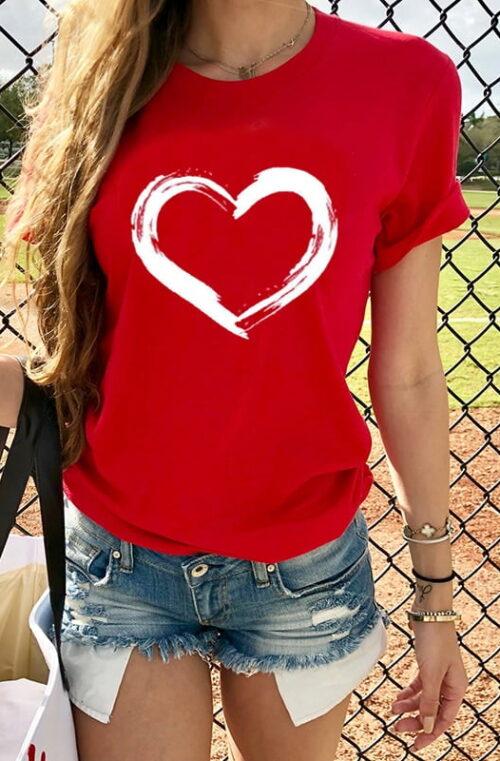 T-Shirt med Hjärta