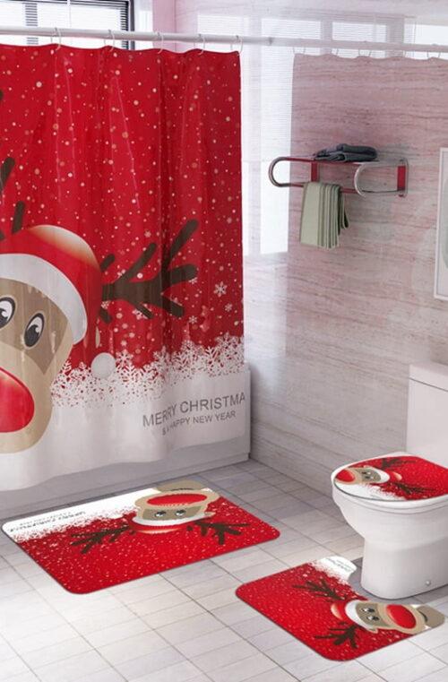 Badrumsmattor med Jultema