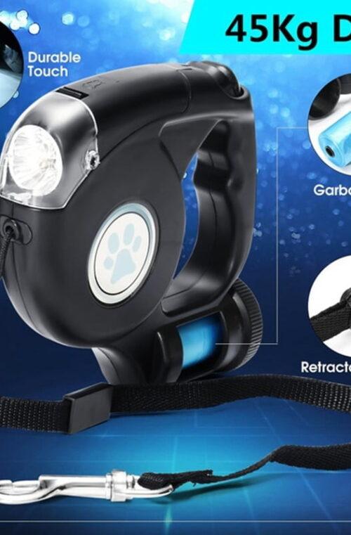 Hundkoppel med LED Ljus