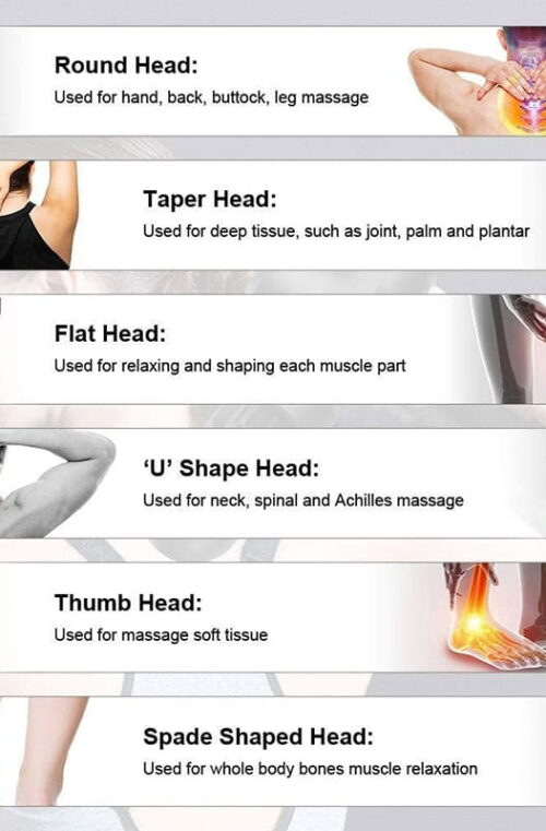 Massagepistol med LCD