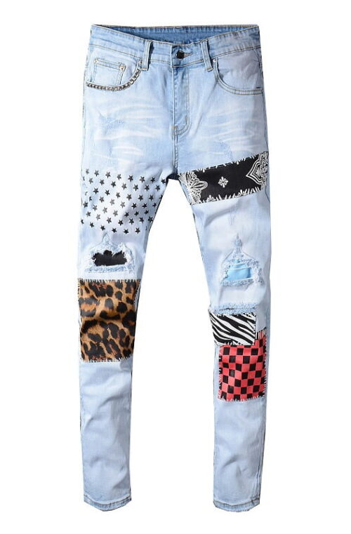 Patch Jeans Herr