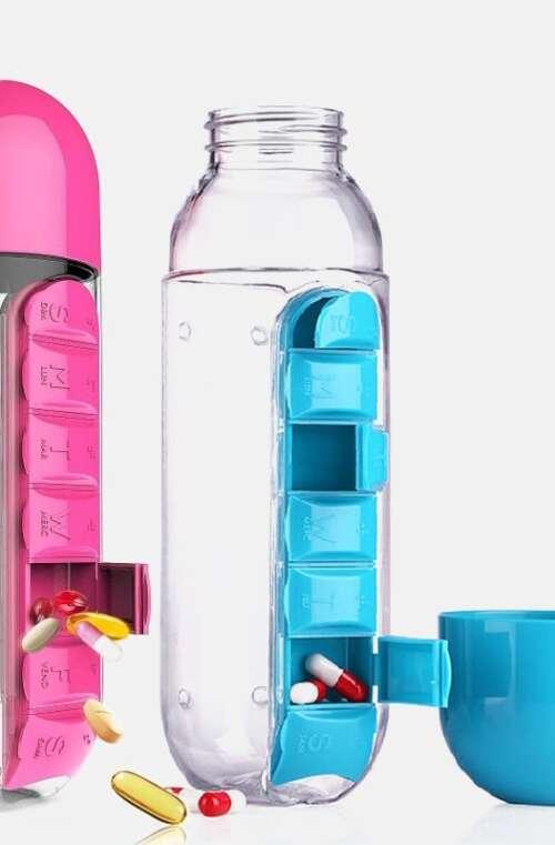 Vattenflaska med Medicindosett