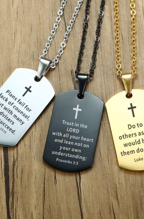 Halsband med Bibelcitat