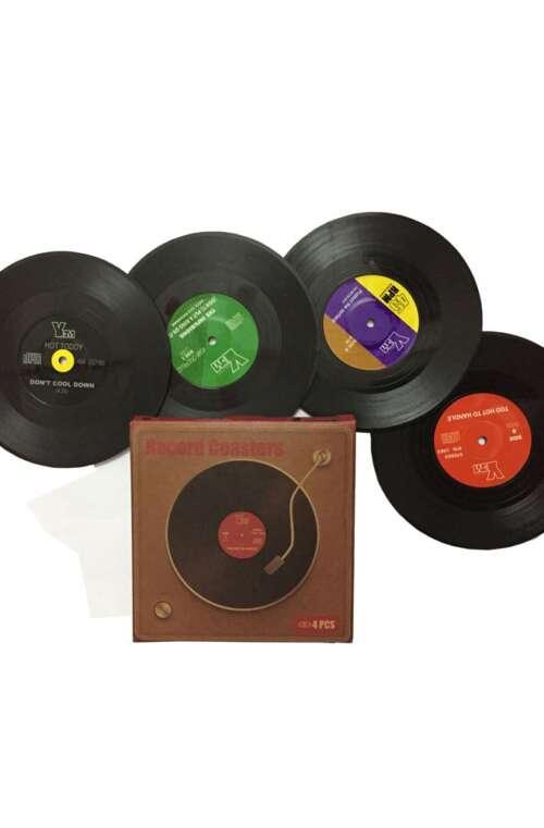 Glasunderlägg (Vinylskivor)
