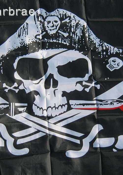 Piratflagga (90cm x 150cm)