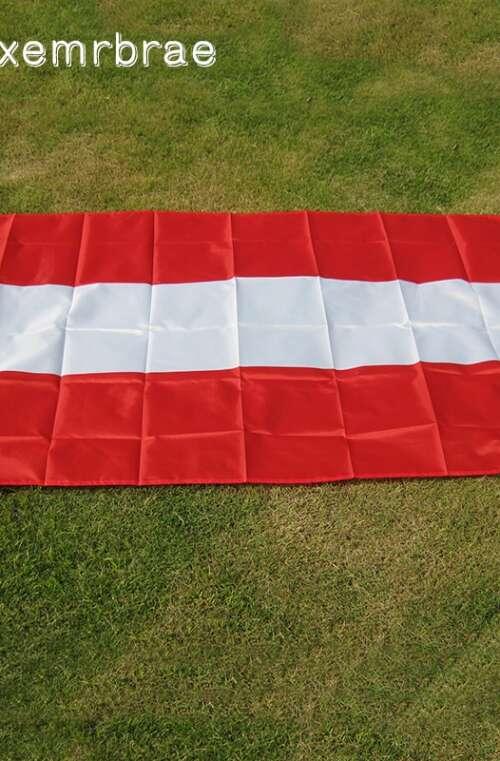 Österrikes Flagga (90cm x 150cm)